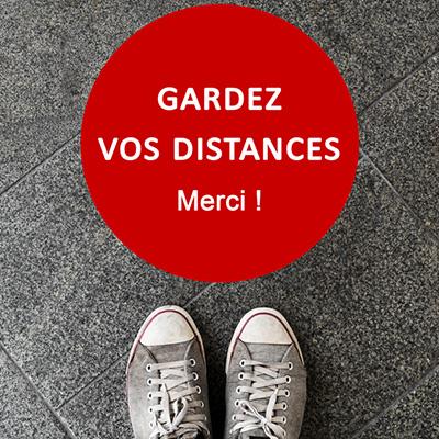 Stickers pour distanciation sociale
